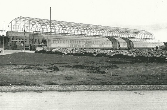 Royal Floral Hall under construction in the 1950's.