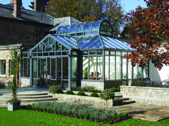 A Bespoke Apropos Glass Conservatory adds to the traditional style of Georgian homes.