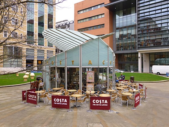 Costa Coffee create the perfect environment to relax with a Chai Latte.